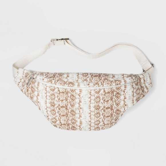 wild fable Handbags - Cream Snake Fanny Pack - Wild Fable